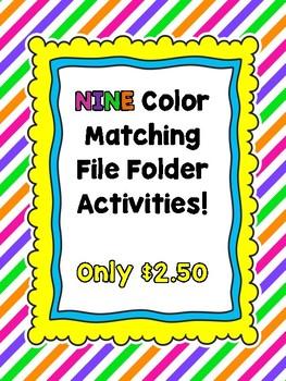 Color Matching File Folder Bundle