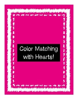 FREE Color Matching File Folder - Hearts Themed