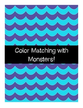 FREE Color Matching File Folder - Monsters Theme