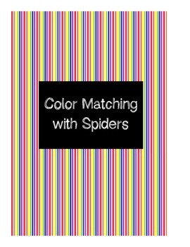 Color Matching File Folder - Spider Theme