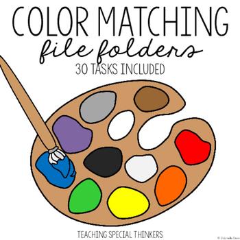 Color Matching File Folder Tasks: 30 Tasks Included
