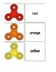 Color Matching File Folders with Fidget Spinners