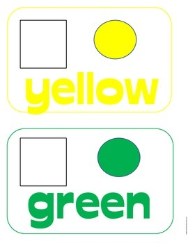 Color Matching Flash Cards