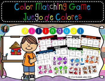 Color Matching Game Bilingual English Spanish
