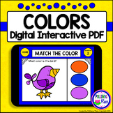 Color Matching Interactive PDF Digital Task Cards - Colorful Pet Theme
