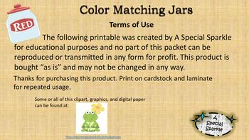Color Matching Jars