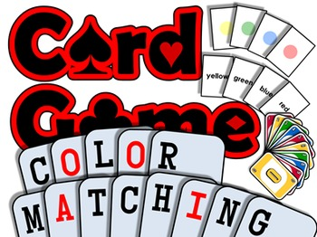 Color Matching PRINTABLE CARD GAME (English Communication Activity)