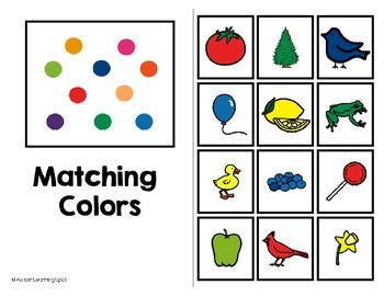 Color Matching Practice Book