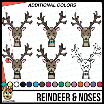 Color Matching: Reindeer and Noses Clip Art