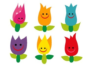 Color Matching Spring File Folder Game (Happy Tulips)