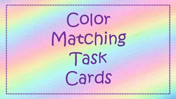 Color Matching Task Cards (Clothes Pins)