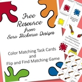 Color Matching Task Cards and Game
