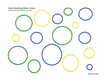 Color Matching Water Colors: Little Blue and Little Yellow