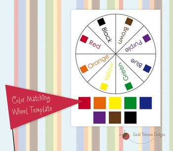 Color Matching Wheel Activity