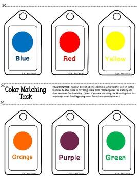 Color Matching Work Task **Work Jig Task**Task Boxes**