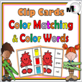 Color Matching Clip Cards and Color Words Clip Cards – Mon