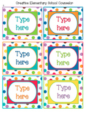 Color Me Bright - Bin Labels - Editable