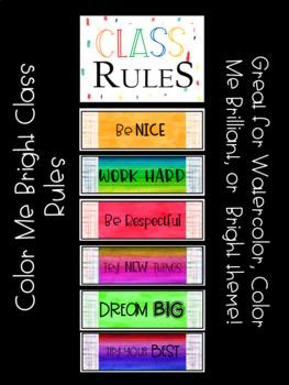Color Me Bright Classroom Rules
