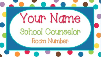 Color Me Bright - Name Plate