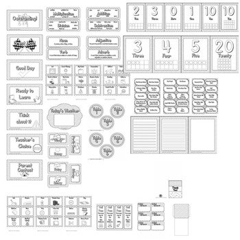 Color Me Chevron  - Classroom Theme / Decor / Organization Mega Bundle
