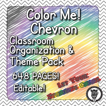 Color Me Chevron  - Classroom Theme / Decor / Organization