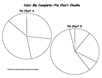 Color Me Complete Pie Chart Chunks