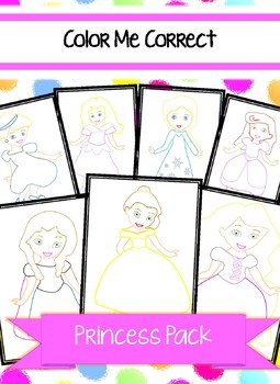 Color Me Correct - Princess Pack