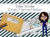 Color Me Desk Name Plates