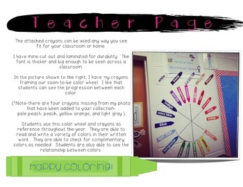 Color Me Fabulous...mini crayon posters