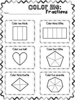 Color Me: Fractions