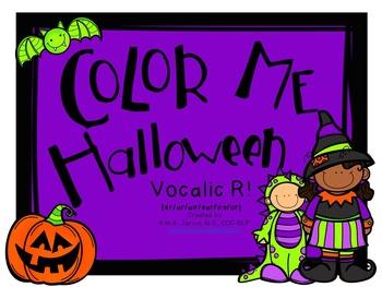Color Me Halloween: Vocalic R Sounds