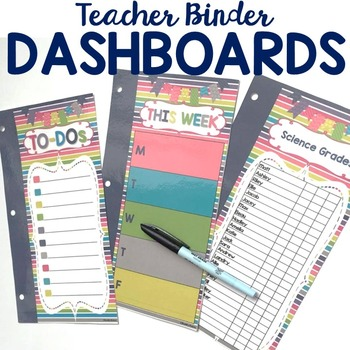 EDITABLE Teacher Binder 2018-2019 {Color Me Happy}