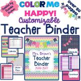 EDITABLE Teacher Binder 2019-2020 {Color Me Happy}