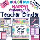 EDITABLE Teacher Binder 2016-2017{Color Me Happy}