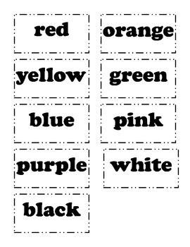 """Color Words-""""Color Me Happy""""-color word activity w/ QR codes for self checking!"""