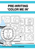 Color Me In: Pre-writing resource