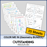 Color Me In or Doodle Sheets - Geometry and Trig BUNDLE (1