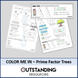 Prime Factor Trees with GCF Doodle Sheet