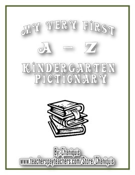 Color Me Kindergarten Pictionary