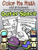 Color Me Math: Add and Subtract from Outer Space!  (answers 1-12)
