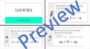 Color Me Math Properties Distance Learning