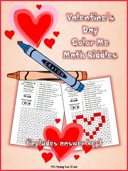 Color Me Math Riddles ~ Valentine's Day