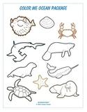 Color Me Ocean Package 2 - Line Art