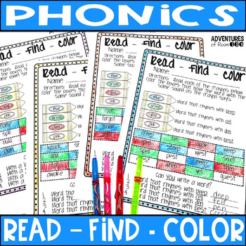 Phonics Coloring Printables