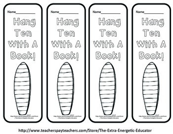 Color Me Pretty: Summertime Reading Bookmarks {FREEBIE}