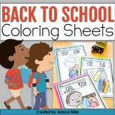 Back to School Color by Number and Color by Sight Word- Back-To-School Coloring