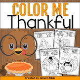 Thanksgiving Color by Number and Color by Sight Word - Thanksgiving Coloring
