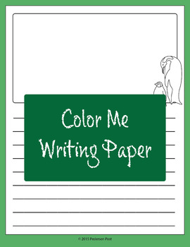 Color Me Writing Paper
