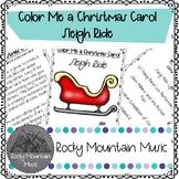 Color Me a Christmas Carol Sleigh Ride
