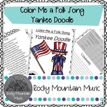 Color Me a Folk Song Yankee Doodle